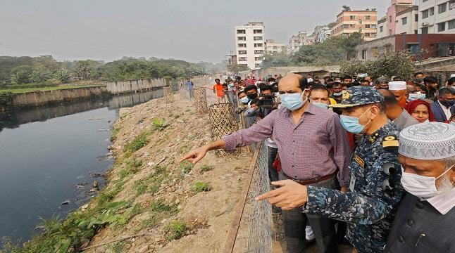 রূপনগর খাল দিয়ে নৌকায় তুরাগ নদীতে যেতে চান মেয়র আতিকুল