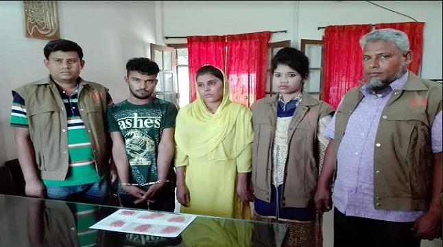 নোয়াখালীতে নারীসহ দুই মাদক ব্যবসায়ী আটক