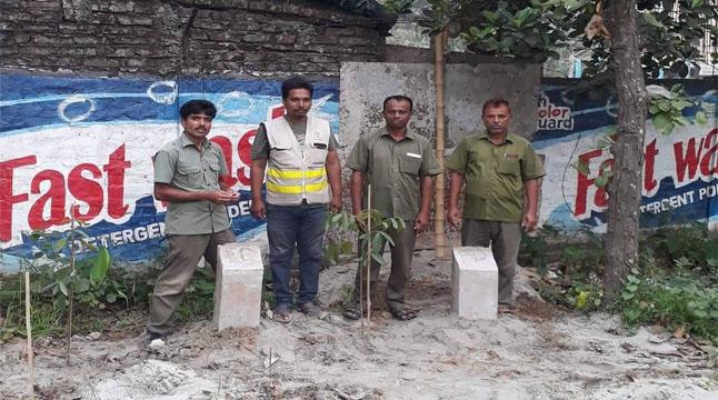 বাউপাড়া বিটে সাত একর বনভূমি উদ্ধার