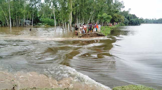 গাইবান্ধায় আরও ৪০ গ্রাম প্লাবিত