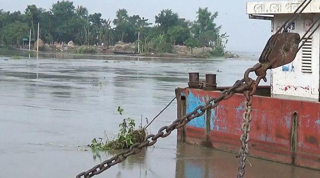 পদ্মায় বাড়ছে পানি, রাজবাড়ীতে নিম্নাঞ্চল প্লাবিত