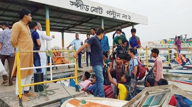 কাঁঠালবাড়ী-শিমুলিয়া রুটে লঞ্চ বন্ধ