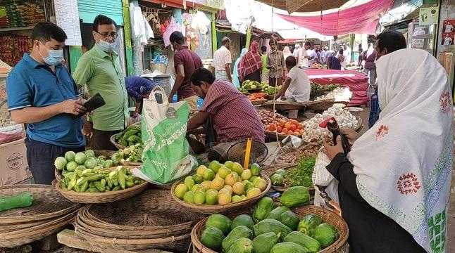 আলু শূন্য সিরাজগঞ্জের সবজির বাজার