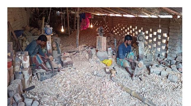 কেশবপুরে কুটির শিল্পে মন্দাভাব