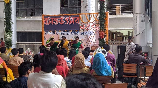 কবি নজরুল বিশ্ববিদ্যালয়ে বসন্ত উৎসব অনুষ্ঠিত