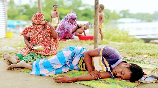 ঈদ আনন্দ নেই সিরাজগঞ্জের বানবাসিদের