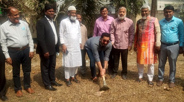 একেএম রহমত উল্লাহ কলেজের নতুন ভবন নির্মাণকাজ উদ্বোধন