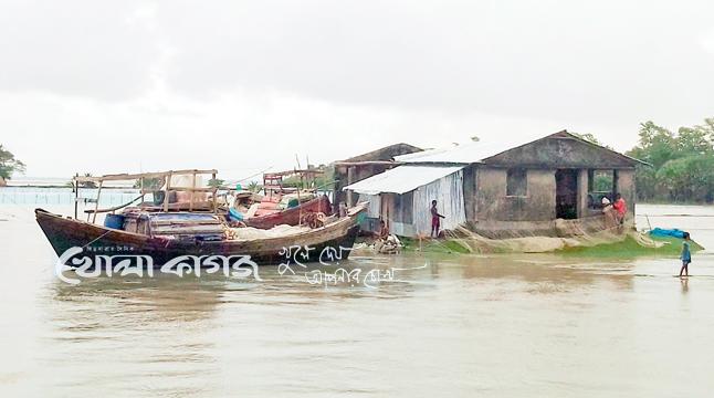 বঙ্গোপসাগর উত্তাল, কলাপাড়ায় নদনদীর পানি বৃদ্ধি