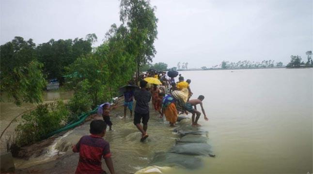 মাতামুহুরী নদীতে জোয়ারের পানি বৃদ্ধি